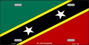 St Kitts-Nevis Flag Wholesale Metal Novelty License Plate LP-4149