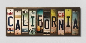 California Wholesale Novelty License Plate Strips Wood Sign WS-122