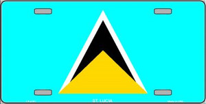 St Lucia Flag Wholesale Metal Novelty License Plate LP-4151