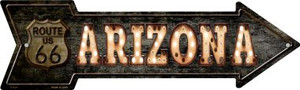 Arizona Route 66 Bulb Letters Wholesale Novelty Metal Arrow Sign A-424