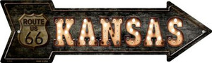 Kansas Route 66 Bulb Letters Wholesale Novelty Metal Arrow Sign A-428