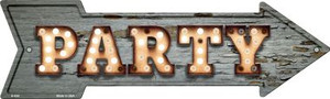 Party Bulb Letters Wholesale Novelty Metal Arrow Sign A-434