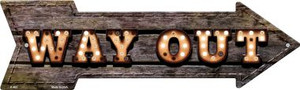 Way Out Bulb Letters Wholesale Novelty Arrow Sign A-463