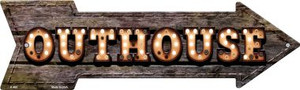 Outhouse Bulb Letters Wholesale Novelty Arrow Sign A-465
