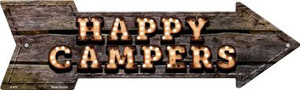 Happy Campers Bulb Letters Wholesale Novelty Arrow Sign A-472