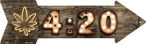 4:20 Bulb Letters Wholesale Novelty Arrow Sign A-493