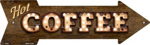 Hot Coffee Bulb Letters Wholesale Novelty Arrow Sign A-503
