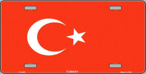 Turkey Flag Wholesale Metal Novelty License Plate LP-4163