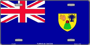Turks And Caicos Flag Wholesale Metal Novelty License Plate LP-4165