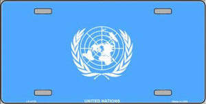 United Nations Flag Wholesale Metal Novelty License Plate LP-4170