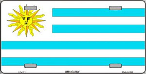 Uruguay Flag Wholesale Metal Novelty License Plate LP-4171