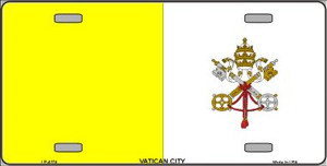 Vatican City Flag Wholesale Metal Novelty License Plate LP-4174