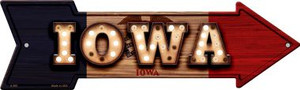 Iowa Bulb Lettering With State Flag Wholesale Novelty Arrows A-595