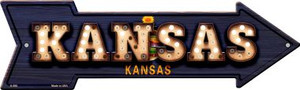 Kansas Bulb Lettering With State Flag Wholesale Novelty Arrows A-596