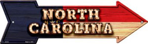 North Carolina Bulb Lettering With State Flag Wholesale Novelty Arrows A-613