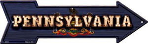 Pennsylvania Bulb Lettering With State Flag Wholesale Novelty Arrows A-618