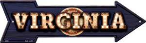 Virginia Bulb Lettering With State Flag Wholesale Novelty Arrows A-626