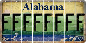 Alabama F Cut License Plate Strips (Set of 8) LPS-AL1-006