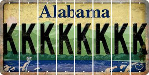 Alabama K Cut License Plate Strips (Set of 8) LPS-AL1-011
