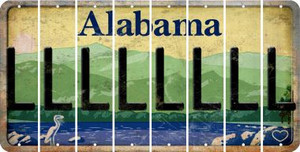 Alabama L Cut License Plate Strips (Set of 8) LPS-AL1-012
