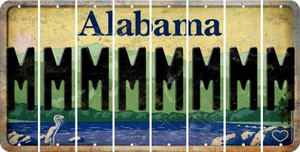 Alabama M Cut License Plate Strips (Set of 8) LPS-AL1-013