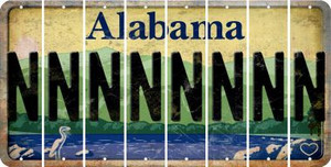 Alabama N Cut License Plate Strips (Set of 8) LPS-AL1-014