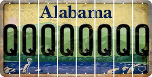 Alabama Q Cut License Plate Strips (Set of 8) LPS-AL1-017
