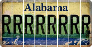 Alabama R Cut License Plate Strips (Set of 8) LPS-AL1-018