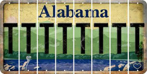 Alabama T Cut License Plate Strips (Set of 8) LPS-AL1-020