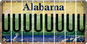 Alabama U Cut License Plate Strips (Set of 8) LPS-AL1-021