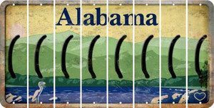 Alabama LEFT PARENTHESIS Cut License Plate Strips (Set of 8) LPS-AL1-045