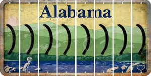 Alabama RIGHT PARENTHESIS Cut License Plate Strips (Set of 8) LPS-AL1-048