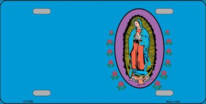 Virgin Mary Blue Background Wholesale Metal Novelty License Plate LP-4188