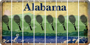 Alabama TENNIS Cut License Plate Strips (Set of 8) LPS-AL1-064