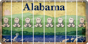Alabama BABY BOY Cut License Plate Strips (Set of 8) LPS-AL1-066