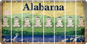 Alabama BABY GIRL Cut License Plate Strips (Set of 8) LPS-AL1-067