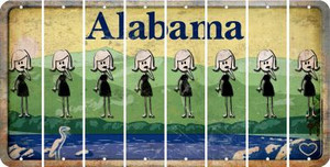 Alabama MOM Cut License Plate Strips (Set of 8) LPS-AL1-070