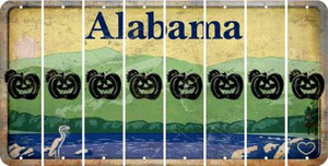 Alabama PUMPKIN Cut License Plate Strips (Set of 8) LPS-AL1-075