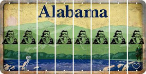 Alabama SANTA Cut License Plate Strips (Set of 8) LPS-AL1-078