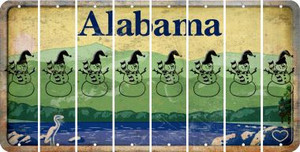 Alabama SNOWMAN Cut License Plate Strips (Set of 8) LPS-AL1-079