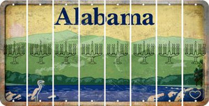 Alabama MENORAH Cut License Plate Strips (Set of 8) LPS-AL1-080