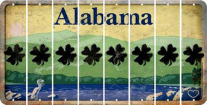 Alabama SHAMROCK Cut License Plate Strips (Set of 8) LPS-AL1-082
