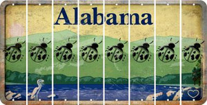 Alabama LADYBUG Cut License Plate Strips (Set of 8) LPS-AL1-087