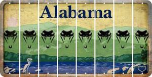 Alabama SNAKE Cut License Plate Strips (Set of 8) LPS-AL1-088
