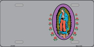 Virgin Mary Gray Background Wholesale Metal Novelty License Plate LP-4191