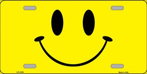 Happy Face Wholesale Metal Novelty License Plate