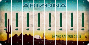 Arizona EXCLAMATION POINT Cut License Plate Strips (Set of 8) LPS-AZ1-041