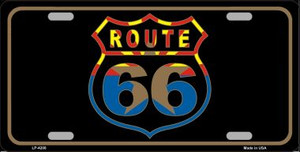Route 66 Logo Arizona Flag Wholesale Metal Novelty License Plate