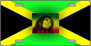 Jamaica Flag Bob Marley Wholesale Metal Novelty License Plate LP-4215
