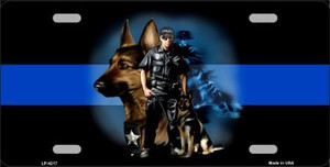 Thin Blue Line Police K-9 Wholesale Metal Novelty License Plate